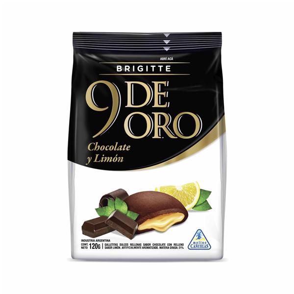 GALL 9 DE ORO BRIGITTE CHOCOLATE LIMON 120GR