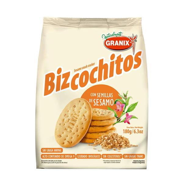 BIZCOCHITOS GRANIX C/SESAMO 180GR