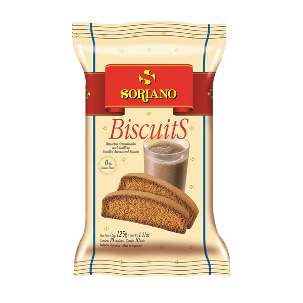 BISCUITS SORIANO CLASICOS 125GR