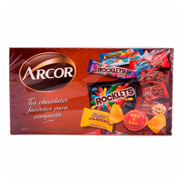 BOMBON Y CHOCOLATE ARCOR SURTIDO 276GR