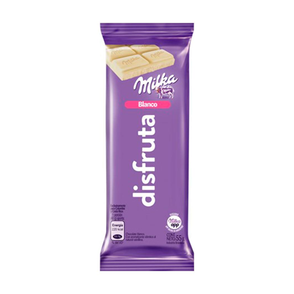 CHOCOLATE MILKA BLANCO 55GR