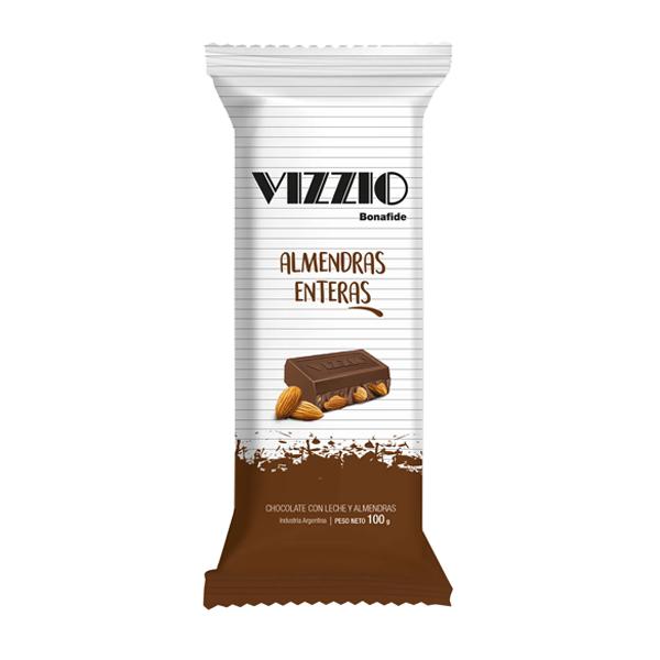 CHOCOLATE VIZZIO ALMENDRAS 100GR
