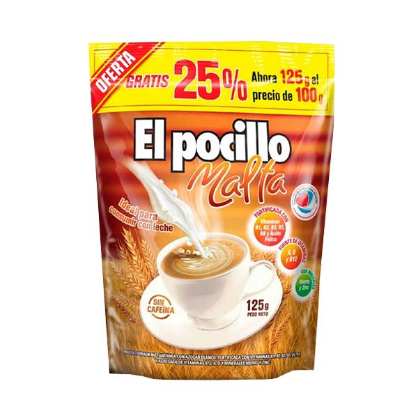 MALTA EL POCILLO 125GR 25% GRATIS