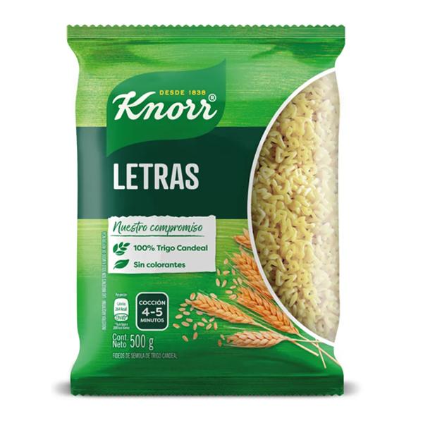 FIDEOS KNORR LETRAS 500GR