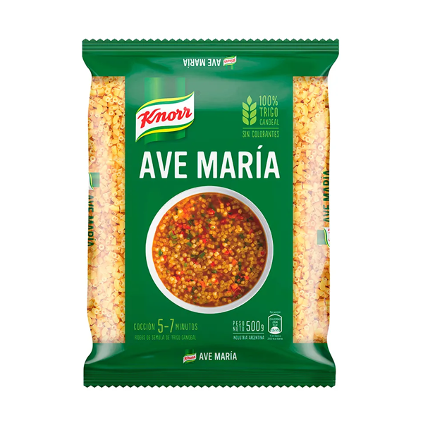 FIDEOS KNORR AVE MARIA 500GR