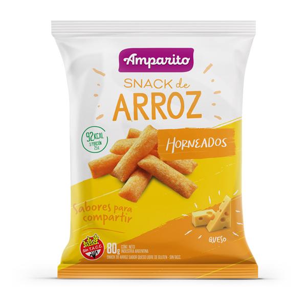 SNACK AMPARITO ARROZ QUESO 80GR