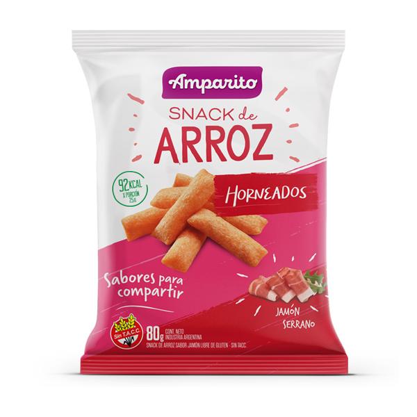 SNACK AMPARITO ARROZ JAMON 80GR