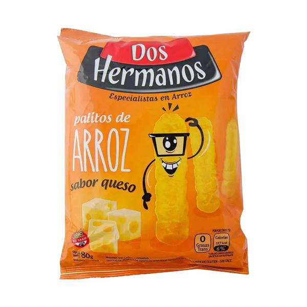 PALITOS ARROZ DOS HERMANOS QUESO 80GR