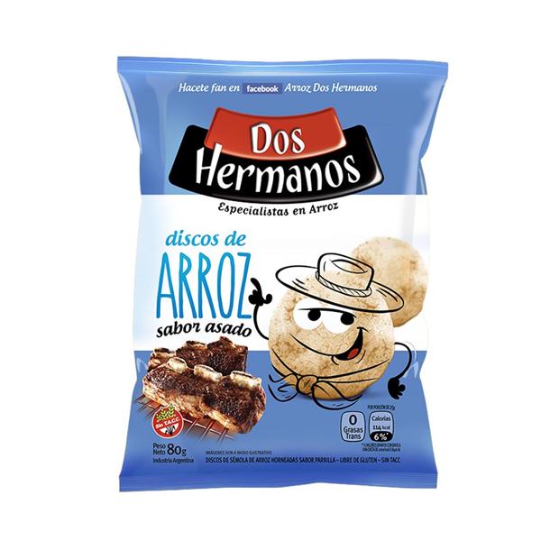 DISCOS ARROZ DOS HERMANOS ASADO 80GR