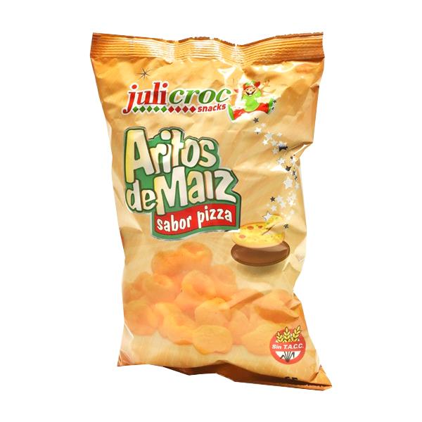 ARITOS DE MAIZ JULICROC PIZZA 65GR
