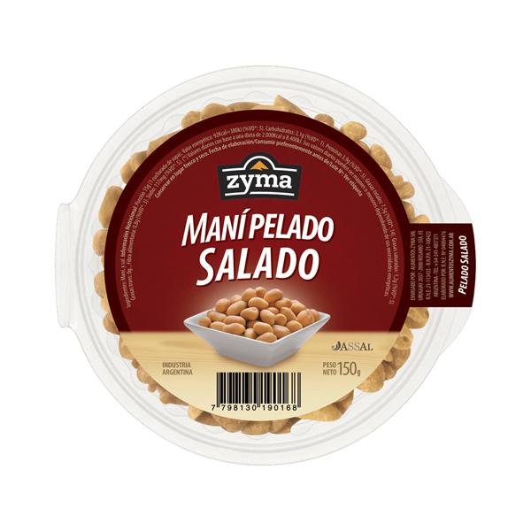 MANI ZYMA PELADO Y SALADO 150GR