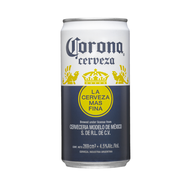 CERVEZA CORONA LATA 269CC