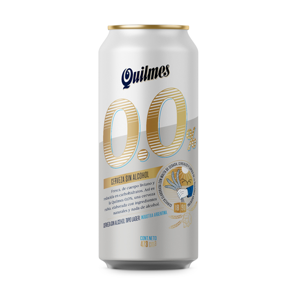 CERVEZA QUILMES 0% ALCOHOL LATA 473CC