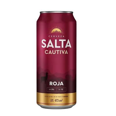 CERVEZA SALTA CAUTIVA ROJA LATA 473CC