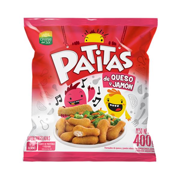 PATITAS GRANJA DEL SOL QUESO JAMON 400GR