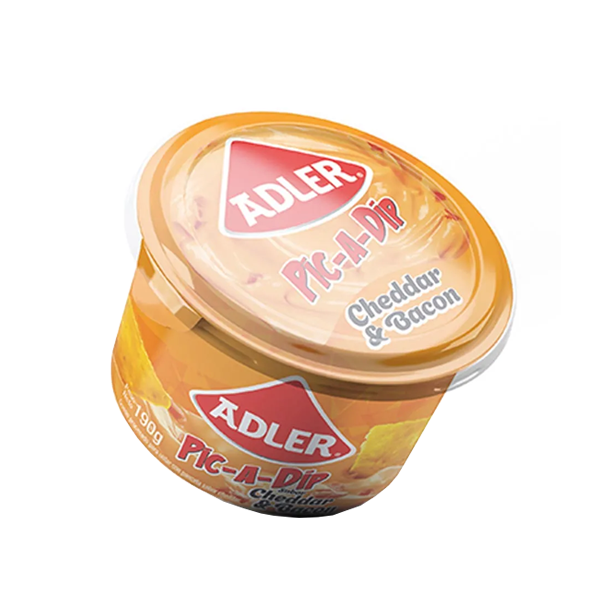 QUESO ADLER PIC-A-DIP CHEDDAR BACON 190GR