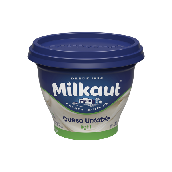 QUESO BCO MILKAUT LIGHT 190GR