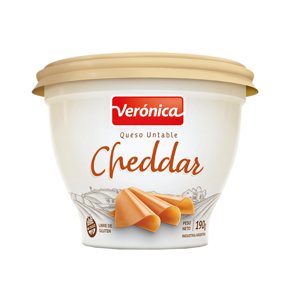QUESO UNTABLE VERONICA CHEDDAR 190GR