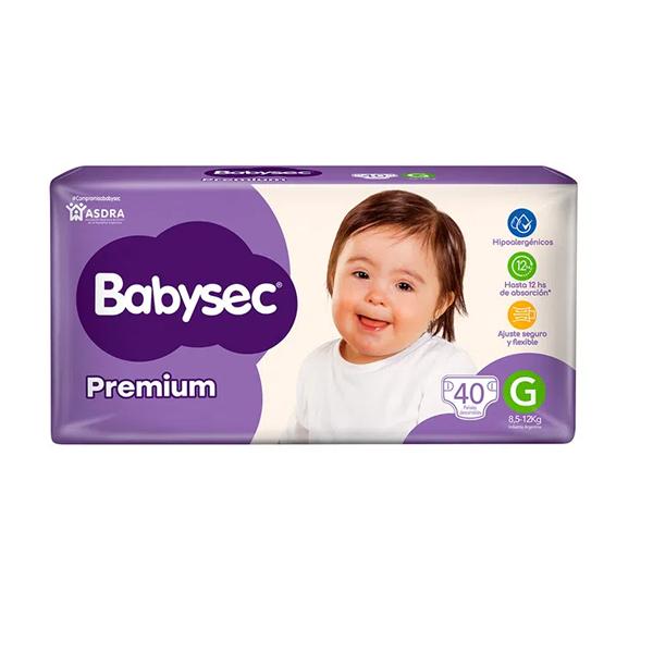 PAÑAL BABYSEC PREMIUM HIPER G 40U