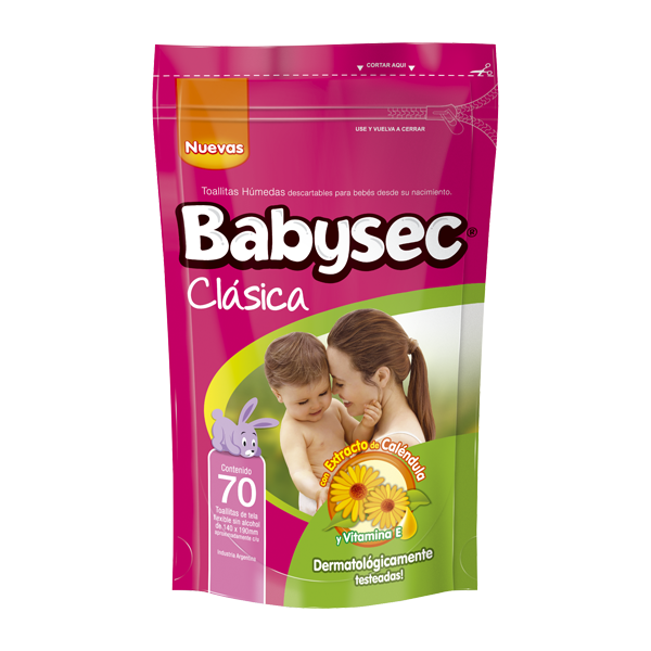 TOALLA HUM BABYSEC CLASICA 70U