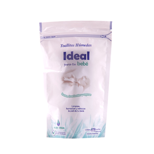 TOALLA HUM IDEAL ALOE 70U
