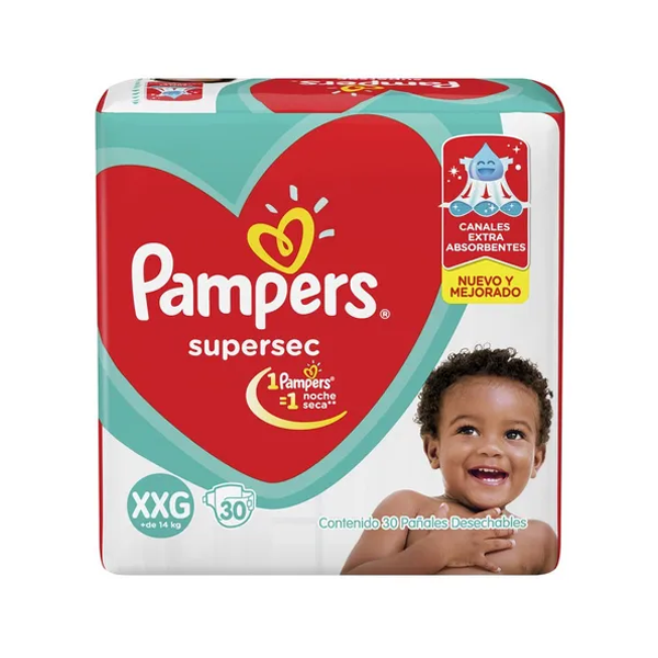 PAÑAL PAMPERS SUPERSEC XXG 32U