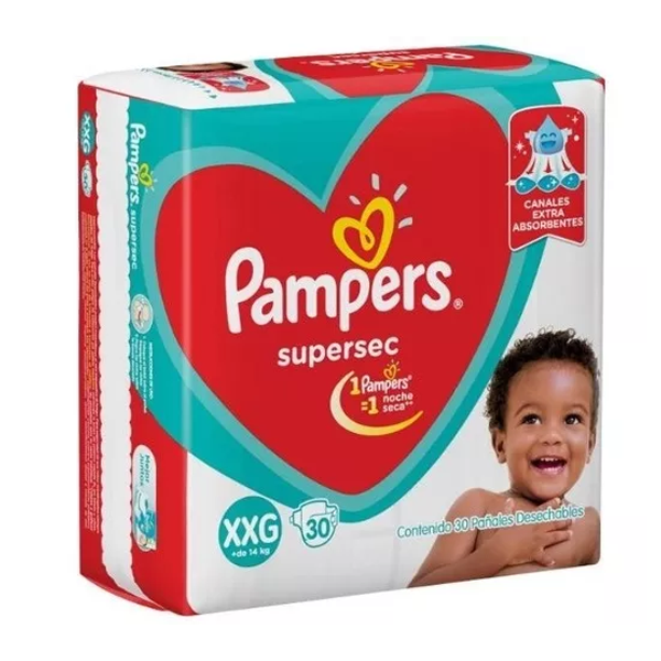 PAÑAL PAMPERS SUPERSEC XXG 30U