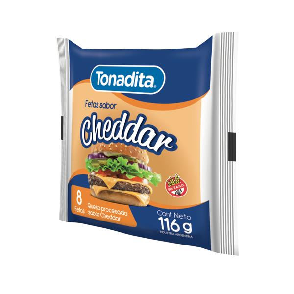 QUESO CHEDDAR TONADITA 8 FETAS