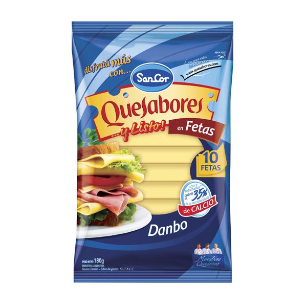 QUESABORES SANCOR FETAS DANBO 180GR
