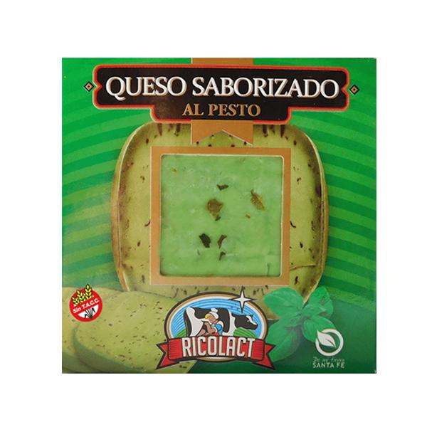 QUESO SABORIZADO RICOLACT AL PESTO 330GR