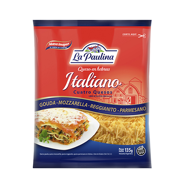 QUESO HEBRAS PAULINA ITALIANO 135GR